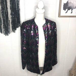 Vintage colorful sequin sacks fifth avenue blazer